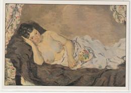 CHROMOS Tableau 35 : Femme Nue Couchée Huile Sur Toile Vers 1877 De Guillaumin Armand - Otros