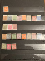 Saxe Orientale, Allemagne Occidentale : Petit Lots De Timbres - Sammlungen (ohne Album)