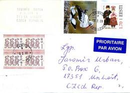 ESTONIA 2008 Cover From TARTU To Unhošť, Czech Republic With Bird Stamp SG 460 - Estonia