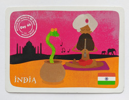 """YoYo Bear """"Around The World In 80 Days"""" Cards  Day 45 INDIA - Unclassified"""