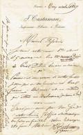Brief 5/10/1847 TOURNAI - J. CASTERMAN - Imprimeur - Libraire à TOURNAI - Signé  Henri CASTERMAN - 1800 – 1899
