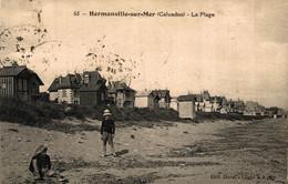 N°697 K -cpa Hermanville Sur Mer -la Plage- - Sonstige Gemeinden