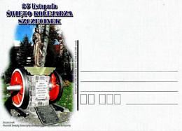 POLONIA POLAND POLSKA - 2011 Cartolina Poste Polacche Monumento A S. CATERINA D'ALESSANDRIA Patrona Ferrovieri - 1286 - Trains