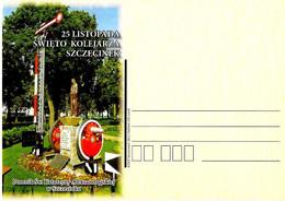 POLONIA POLAND POLSKA - 2011 Cartolina Poste Polacche Monumento A S. CATERINA D'ALESSANDRIA Patrona Ferrovieri - 1287 - Trains