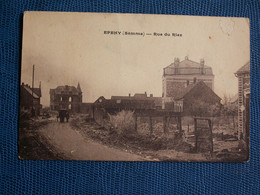 CPA  EPEHY  //  RUE  DU  RIEZ - Weltkrieg 1914-18