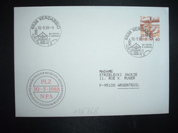 LETTRE TP POSTE AVION 60 OBL.30 5 88 6538 VERDABBIO SS. PIERO E LORENZO - Postmark Collection