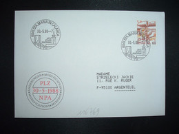 LETTRE TP POSTE AVION 60 OBL.30 5 88 6541 STA. MARIA IN CALANCA ARTE STORIA PANORAMA - Postmark Collection