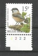 OCB 2695 Postfris Zonder Scharnier ** Met Plaatnummer 2 - 1985-.. Vogels (Buzin)