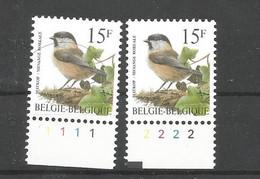 OCB 2695 Postfris Zonder Scharnier ** Met Plaatnummer 1 En 2 - 1985-.. Birds (Buzin)
