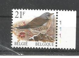OCB 2792 Postfris Zonder Scharnier ** Met Plaatnummer 1 - 1985-.. Birds (Buzin)
