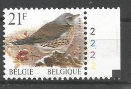 OCB 2792 Postfris Zonder Scharnier ** Met Plaatnummer 2 - 1985-.. Birds (Buzin)