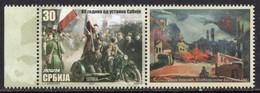 Serbia 2021 - 80 Years Since The Serbian Uprising - MNH Set + Label - Serbia