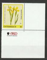 Personalisierte BM Rudolf Gallers Herbarium Wasser Schwertlilie ** Postfrisch - Private Stamps