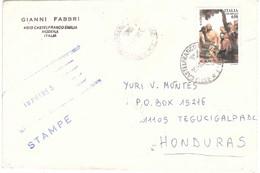2000 £650 €0,34 GIUBILEO SU STAMPE X ESTERO HONDURAS - 1991-00: Marcophilie