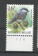 OCB 2804 Postfris Zonder Scharnier ** Met Plaatnummer 1 - 1985-.. Vogels (Buzin)