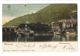"""LOCARNO Porto. Imbarcadero """"Debarcadèere"""" Ed. H.Guggenheim & Co. Zurich - TI Tessin"""