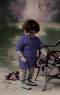 Vraie Photo Colorisée : Petite Fille Au Fauteuil - Retratos