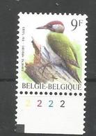OCB 2778 Postfris Zonder Scharnier ** Met Plaatnummer 2 - 1985-.. Birds (Buzin)
