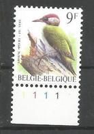 OCB 2778 Postfris Zonder Scharnier ** Met Plaatnummer 1 - 1985-.. Birds (Buzin)