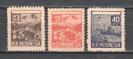 Indonesia - Sumatra 1947 Mi 26-27 + 29 MNH (*) - Indonesia