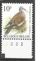 OCB 2783 Postfris Zonder Scharnier ** Met Plaatnummer 2 - 1985-.. Vogels (Buzin)