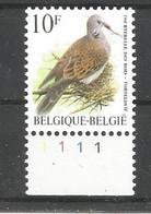OCB 2783 Postfris Zonder Scharnier ** Met Plaatnummer 1 - 1985-.. Vogels (Buzin)