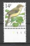 OCB 2623 Postfris Zonder Scharnier ** Met Plaatnummer 1 - 1985-.. Birds (Buzin)