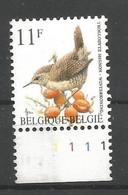 OCB 2449 Postfris Zonder Scharnier ** Met Plaatnummer 1 - 1985-.. Birds (Buzin)