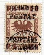 12CRT227 - ALBANIA 1919, Yvert 79 O Michel 53 Usato - Albanië
