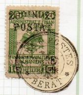 12CRT232 - ALBANIA 1919, Yvert 82 O Michel 55 Usato : ZYRA BERAT - Albania