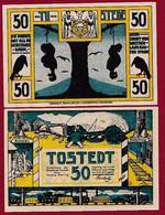 Allemagne 1 Notgeld  De 50 Pf  Stadt  Tostede  ( RARE) Dans L 'état   Lot N °337 - Collections