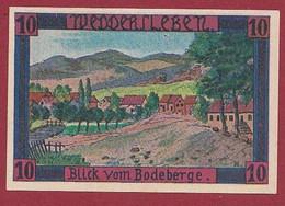 Allemagne 1 Notgeld  De 10 Pf  Stadt  Weddersleben  ( RARE) Dans L 'état   Lot N °339 - Collections