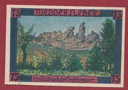 Allemagne 1 Notgeld  De 75 Pf  Stadt  Weddersleben  ( RARE) Dans L 'état   Lot N °342 - Collections