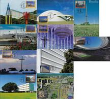 Brazil 2017 Complete Series 10 Maximum Card Stamp RHM-C-3726/3735 BrasíliaWorld Heritage - Cartoline Maximum