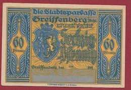 Allemagne 1 Notgeld  De 60 Pf  Stadt  Greiffenberg  (Pologne-Gryfow)  ( RARE) Dans L 'état   Lot N °344 - Collections