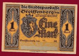 Allemagne 1 Notgeld  De 1 Mark  Stadt  Greiffenberg  (Pologne-Gryfow)  ( RARE) Dans L 'état   Lot N °345 - Collections