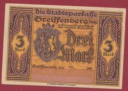 Allemagne 1 Notgeld  De 3 Mark  Stadt  Greiffenberg  (Pologne-Gryfow)  ( RARE) Dans L 'état   Lot N °346 - Collections