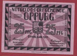 Allemagne 1 Notgeld  De 25 Pf  Stadt  Oppurg  ( RARE) Dans L 'état   Lot N °348 - Collections