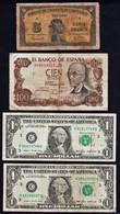BB MONDE: Bon Lot De 11 Billets: Loterie Lorraine 1884, AOF, Espagne, Etats- Unis, Yougoslavie 1884/ 1988 - Vrac - Billets