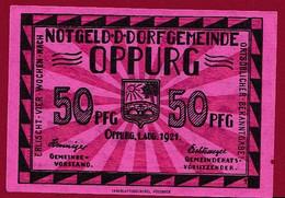 Allemagne 1 Notgeld  De 50 Pf  Stadt  Oppurg  ( RARE) Dans L 'état   Lot N °350 - Collections