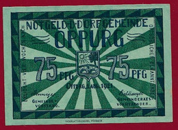 Allemagne 1 Notgeld  De 75 Pf  Stadt  Oppurg  ( RARE) Dans L 'état   Lot N °351 - Collections