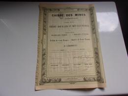 CAISSE DES MINES Et Des Charbonnages (1856) - Unclassified