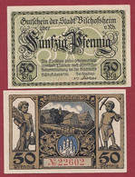 Allemagne 1 Notgeld  De 50 Pf  Stadt  Bischofsheim  ( RARE) Dans L 'état   Lot N °353 - Collections