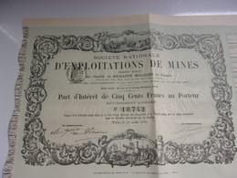 EXPLOITATIONS DE MINES (1880) - Unclassified