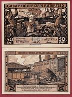 Allemagne 1 Notgeld  De 50 Pf  Stadt  Bitterfeld ( RARE) Dans L 'état   Lot N °356 - Collections