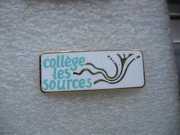 Pin's Du Collège Des Sources à SAVERNE (Dépt 67) - Administrations
