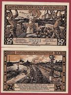 Allemagne 1 Notgeld  De 50 Pf  Stadt  Bitterfeld ( RARE) Dans L 'état   Lot N °357 - Collections