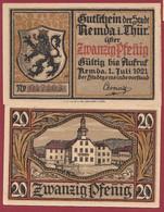 Allemagne 1 Notgeld  De 20 Pf  Stadt  Remda I Thur ( RARE) Dans L 'état   Lot N °360 - Collections