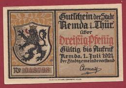Allemagne 1 Notgeld  De 30 Pf  Stadt  Remda I Thur ( RARE) Dans L 'état   Lot N °361 - Collections