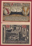 Allemagne 1 Notgeld  De 20 Pf  Stadt  Forst ( RARE) Dans L 'état   Lot N °364 - Collections